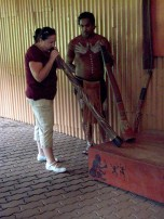 This is me learning how to play the didgeridoo in Australia!