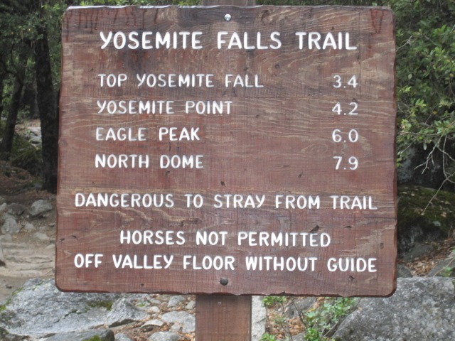 Guide post at the beginning of a trail- Must know where you are going!