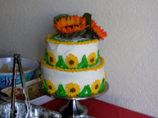 My sunflower cake