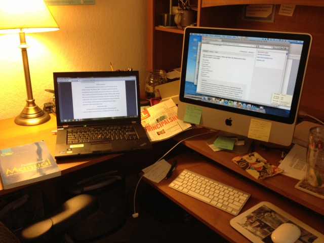 Hours of dissertation writing