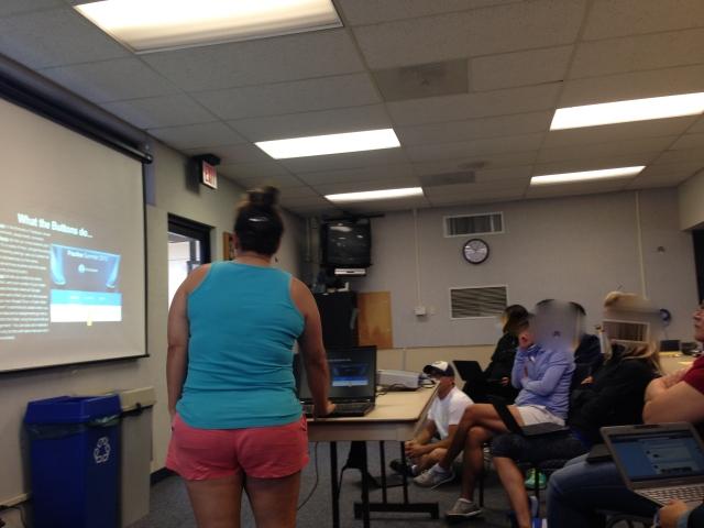 teacher teaching colleagues