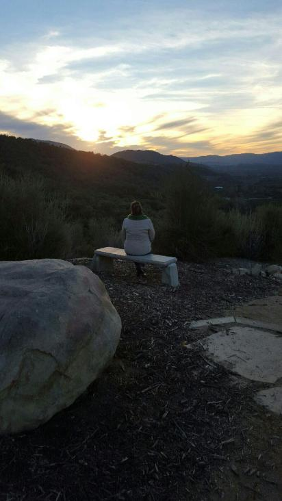 Reflecting on the Ojai sunset
