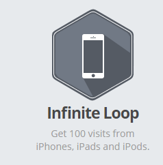 Smore Infinite Loop Badge (100 visits from iphones or ipads)