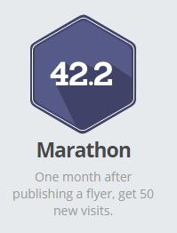 Smore Marathon Badge (50 new visits to a flyer)